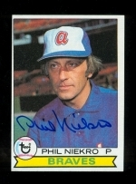 Phil Niekro Autographed Card (Atlanta Braves)