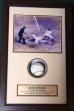 Duke Snider -Autographed Baseball in Shadow Box (Brooklyn Dodgers)