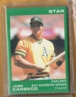 Jose Canseco Star Set (Oakland Athletics)