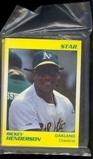 Rickey Henderson Star Set (Oakland Athletics)