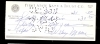 Wiley Moore Signed Check (New York Yankees)