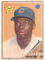 Lou Brock RC (Chicago Cubs)