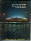 1970 NLCS Program Pittsburgh On the Riverfront (Pittsburgh Pirates)