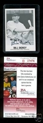 Bill Dickey Autographed Card (New York Yankees)