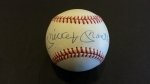 Mickey Mantle Autographed Baseball - GAI (New York Yankees)