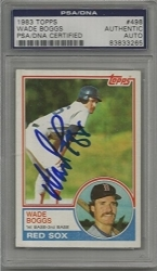 Wade Boggs RC Autographed Card (Boston Red Sox)