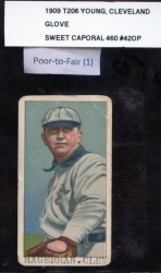 Cy Young/Sweet Caporal/Glove Showing (Cleveland)