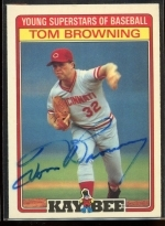 Tom Browning Autographed Card (Cincinnati Reds)