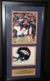 John Elway Autographed Photo in Shadow Box (Denver Broncos)
