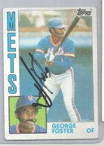 George Foster Autographed Card JSA (New York Mets)
