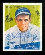 Bill Terry Autographed Reprint Card (New York Giants)