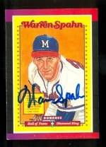 Warren Spahn Autographed Card  (Milwaukee Braves)
