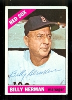 Billy Herman Autographed Card JSA (Boston Red Sox)